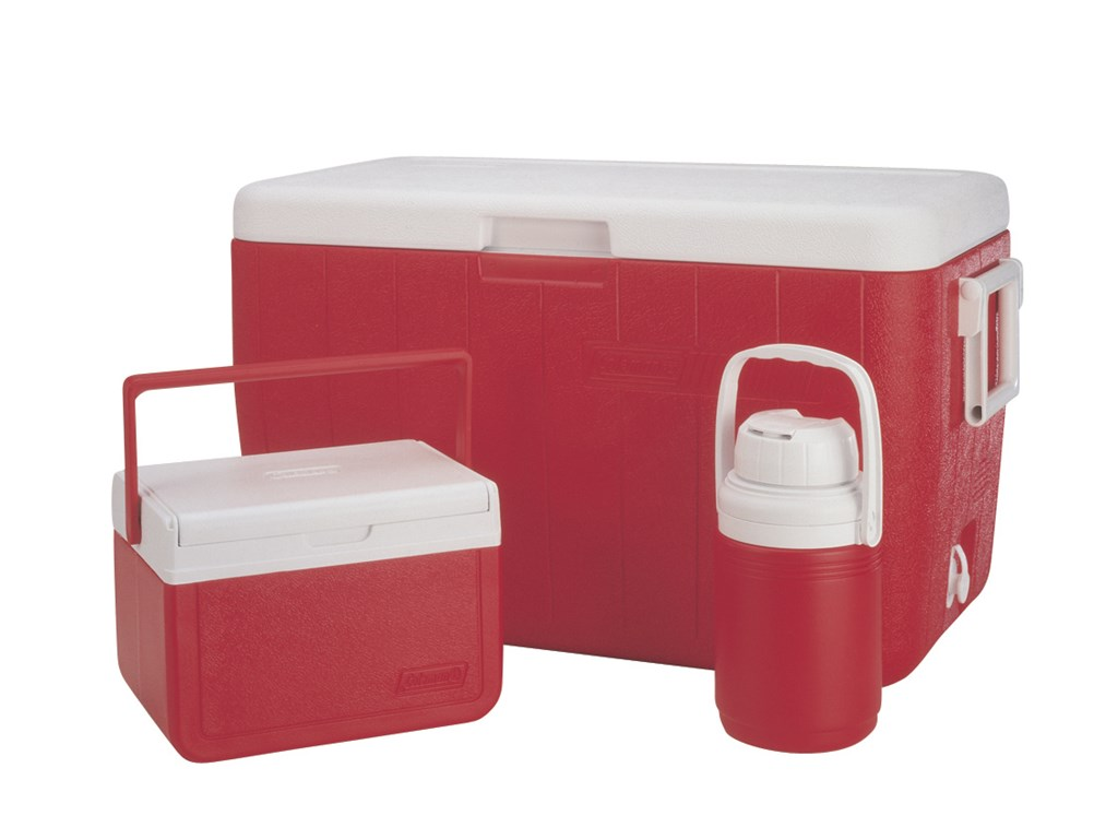 Coleman 48Q Combo Cooler #RED