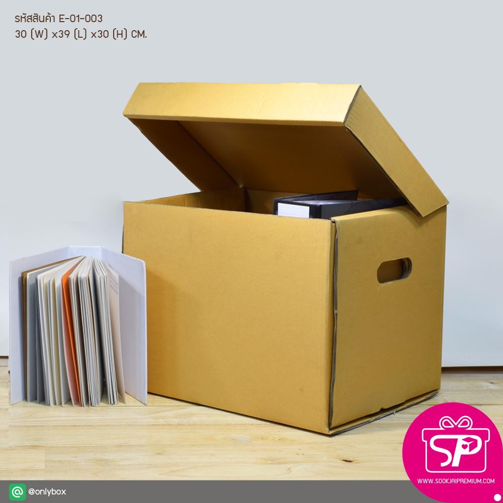 E-01-003 : กล่องใส่เอกสาร ขนาด 30.0(กว้าง) x 39.0(ยาว) x 30.0(สูง) ซม.