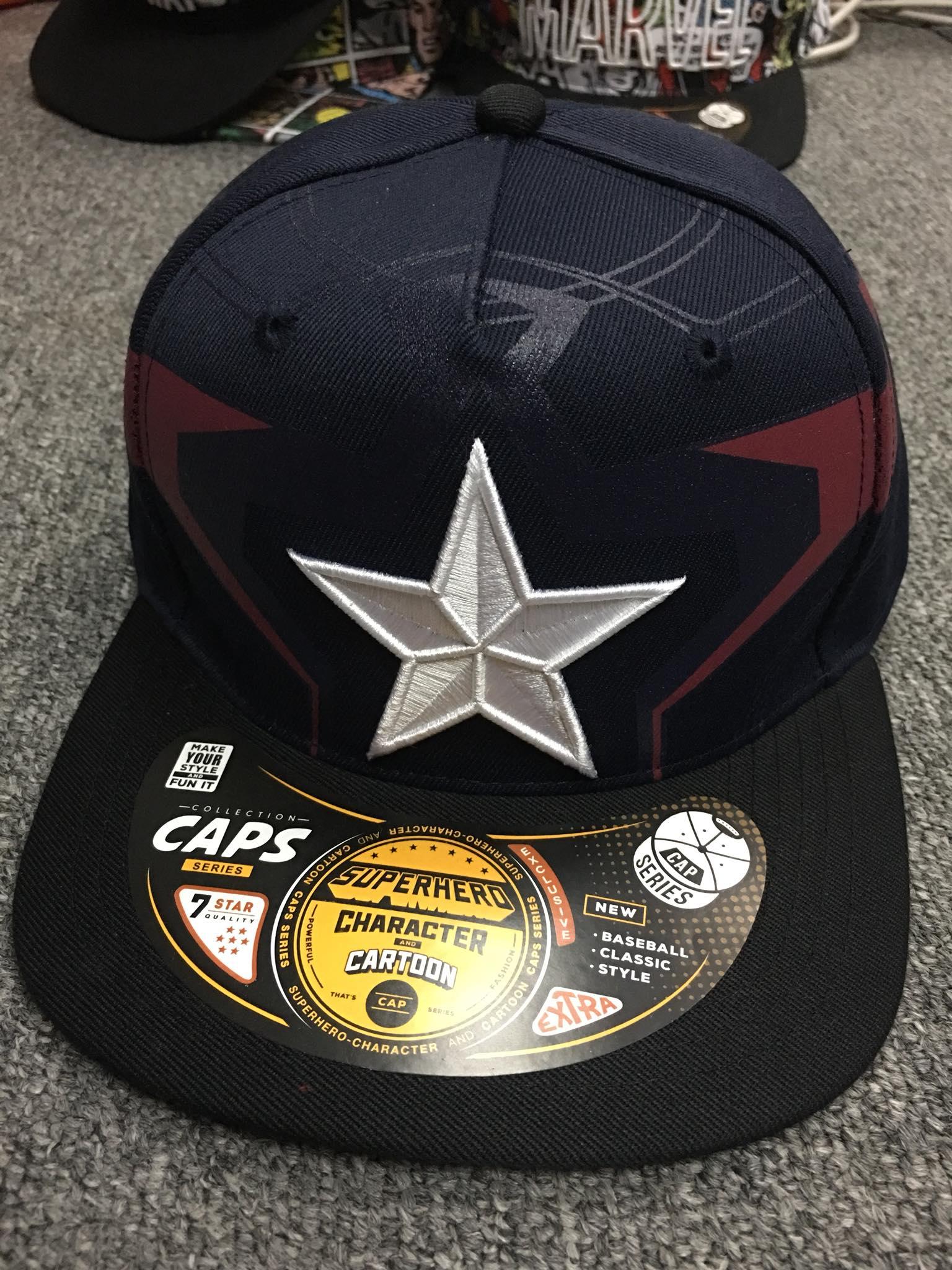 หมวก Captain America (Captain star Black CODE:1200)