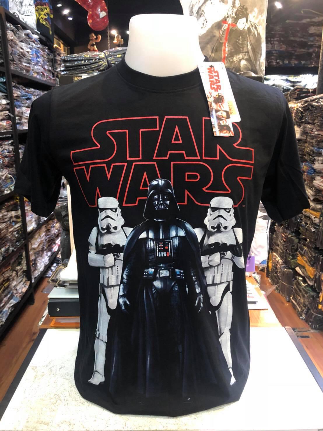 สตาร์วอร์ สีดำ (Star wars logo red darth vador CODE:0958)