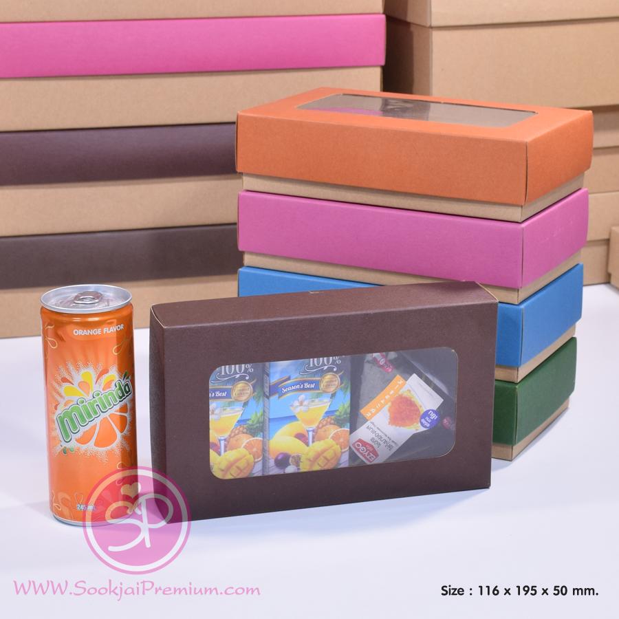 กล่องฝาครอบ ฝาสีต่างๆ ขนาด 11.6 x 19.5 x 5.0 ซม. มีหน้าต่าง