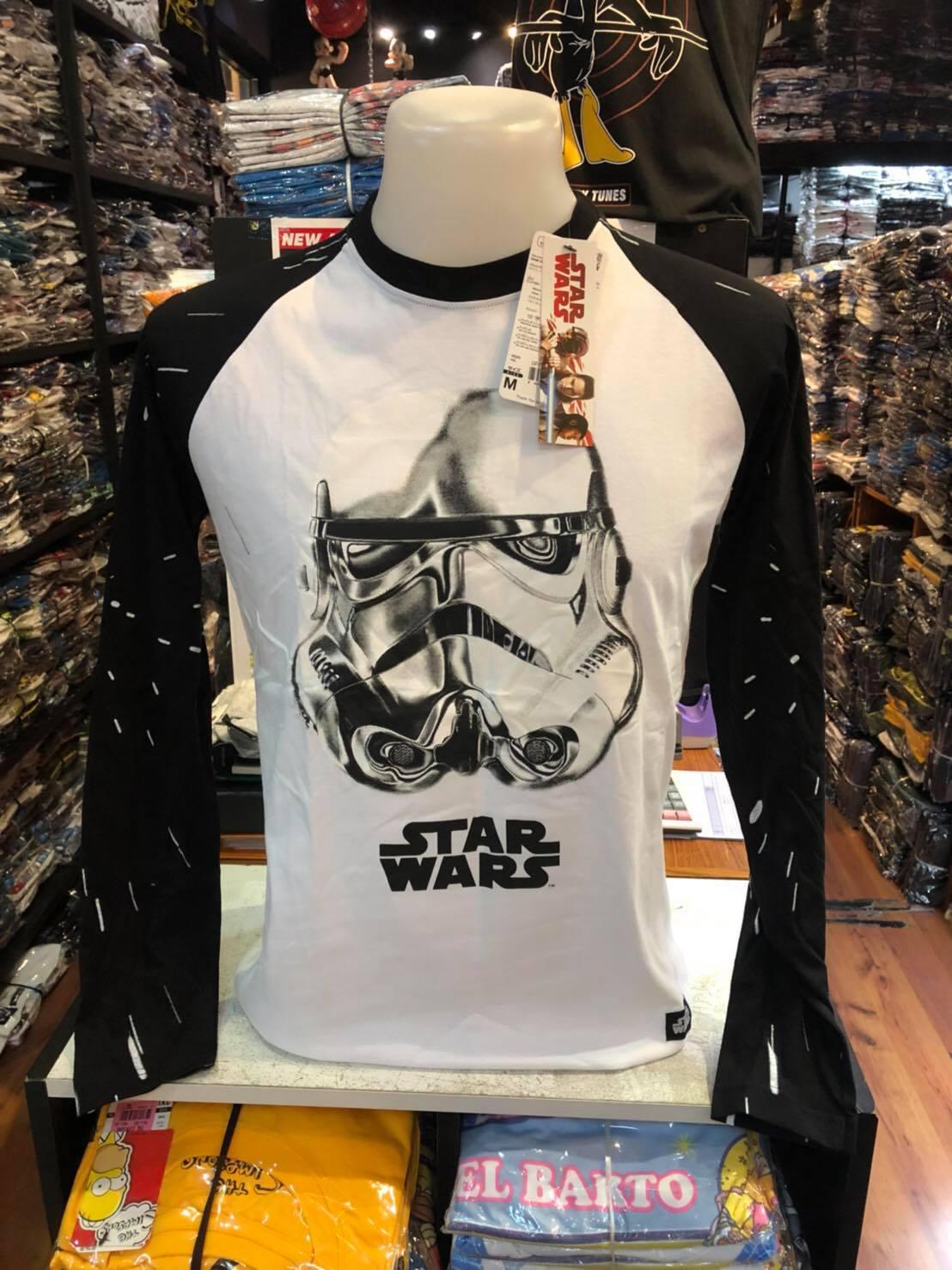 สตาร์วอร์ แขนยาว (LS-Storm Trooper White arm black)