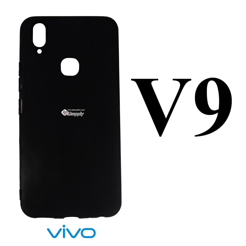 เคสซิลิโคน Vivo V9 นิ่ม ดำ