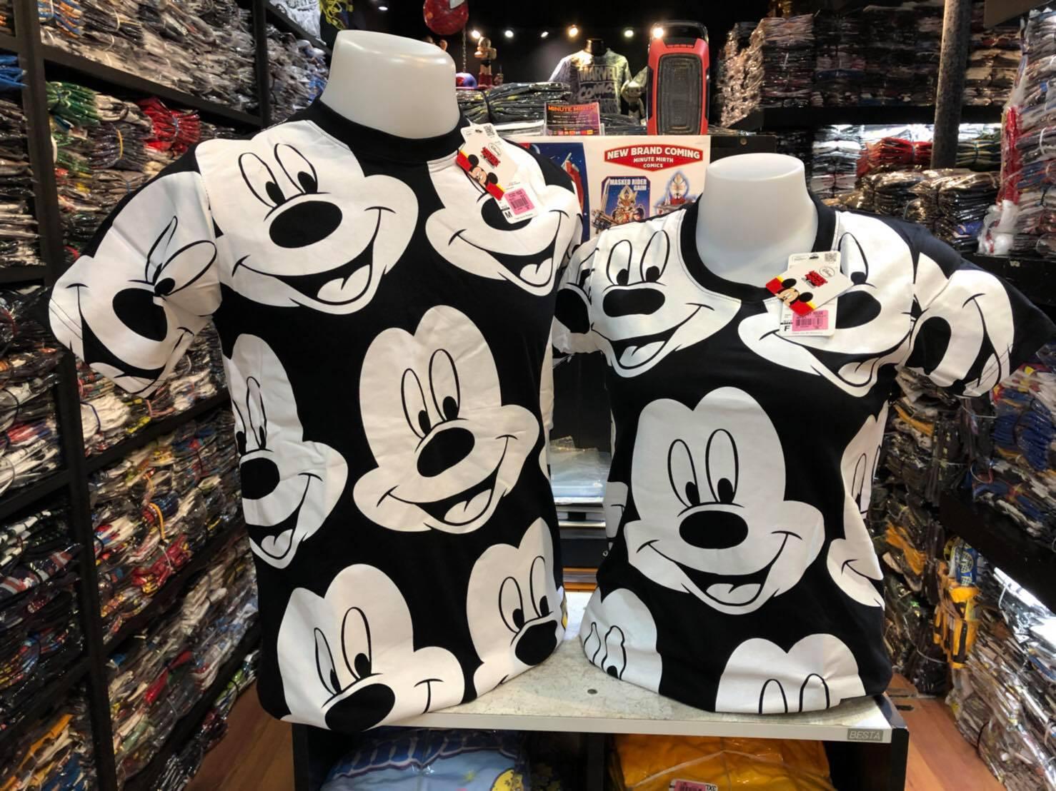 มิ้กกี้เมาส์ สีดำ (Mickey big face)653