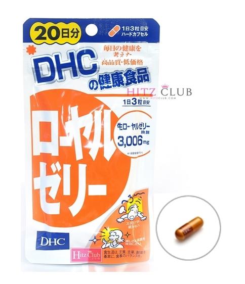 DHC Royal Jelly (20วัน) สกัดจากนมผึ้ง ต้านความเครียด ฟื้นฟูผิวพรรณ บำรุงประสาท ชะลอความแก่ บำรุงร่างกายให้สดใสกระชับกระเฉง ไม่อ่อนเพลีย