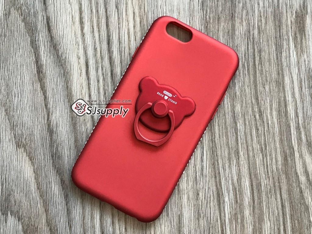 เคส Samsung J7 (2016) เพชรล้อมแหวนหมี สีแดง BKK