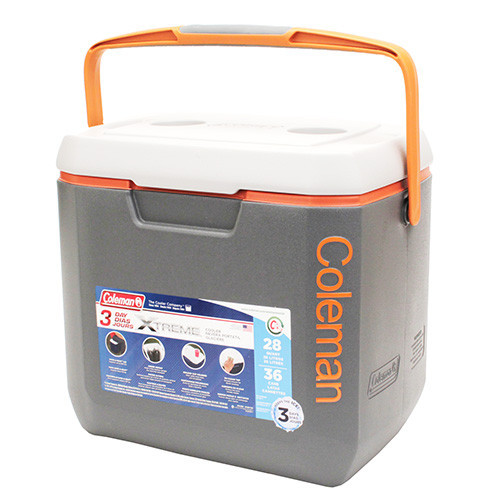 Coleman 28Q Extreme Dark Grey/Orange Cooler