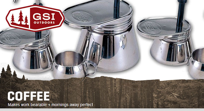 เครื่องต้มกาแฟ GSI 4 CUP Mini Expresso Stainless