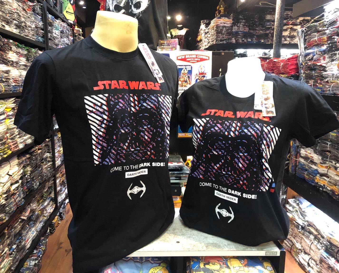 สตาร์วอร์ สีดำ (Darth Vader face logo red CODE:1080)