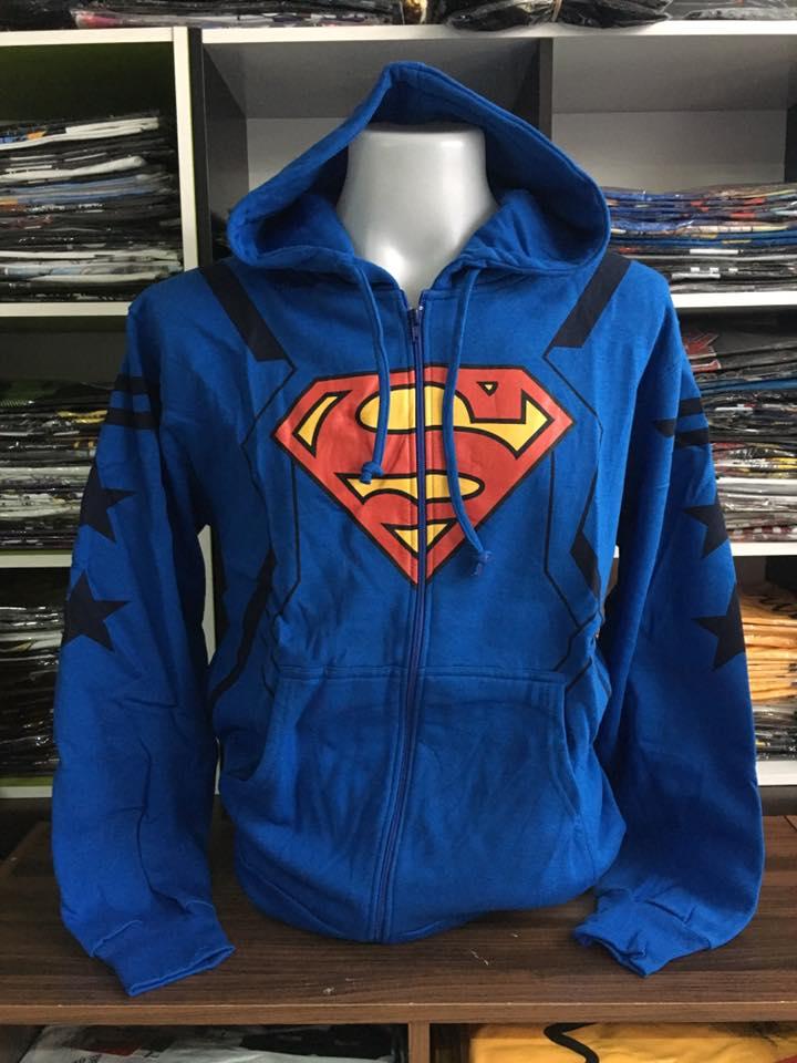 ซุปเปอร์แมน เสื้อกันหนาวฮู้ด (Superman blue CODE:0866)