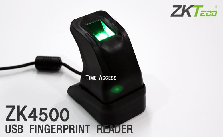 ZK4500 เครื่องสแกนนิ้วแบบ USB โปรโมชั่น 2,500 บาท (ไม่รวม VAT) มีสินค้าพร้อมส่ง