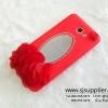 เคส Samsung J7 Prime ดอกไม้กระจก สีแดง