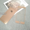ฟิล์มกระจก iPhone6/6s Plus 2in1 สีโรสโกล์ด