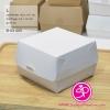 B-03-005 : กล่องแฮมเบอร์เกอร์ ขนาด L ไม่พิมพ์ลาย (ขนาดดูในรูป) บรรจุแพ็คละ 100 กล่อง