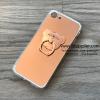 เคส iPhone 6/6s Plus กระจกเงา หมีมีแหวน สีโรสโกล์ด BKK