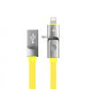 สายชาร์จ Awei CL-989 2in1 Lighting (ios) & Micro USB (android) สีเหลือง
