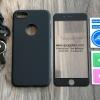 เคส iPhone 5/5s/SE ประกบฟิล์มกระจก + สาย สีดำ BKK