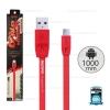 สายชาร์จ Full Speed (Micro USB) 1เมตร Remax สีแดง