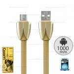 รับประกันสินค้า 1 ปี โดย Remax (Thailand) สายชาร์จ Remax Micro 1M (WKC-005 Chanyi ) สีทอง