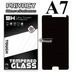 ฟิล์มกระจก Samsung A7 (Privacy) (ฟิล์มกันเสือก)