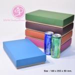กล่องฝาครอบ ฝาสีต่างๆ ขนาด 16.0 x 25.3 x 5.0 ซม. ไม่มีหน้าต่าง