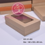 CW1-01-005 : กล่องฝาครอบ ขนาด 16.0 x 25.3 x 8.0 ซม. มีหน้าต่าง