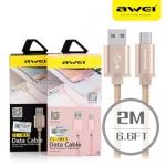 สายชาร์จ Awei CL-983 Micro USB (android) สีทอง