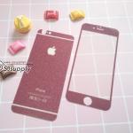 ฟิล์มกระจก iPhone6/6s สีเลือดหมู