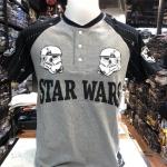 สตาร์วอร์ ผ้า premium cotton (Star wars gray arm black)