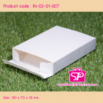 กล่องฝาลิ้นหัวท้าย ขนาด 12.0x17.2x3.0 ซม.