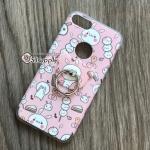 เคส iPhone 7 ลายกระต่ายหมี มีแหวน สีชมพู BKK