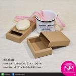 KN1-01-002 : กล่องสบู่ แบบซองสวม (ขนาด : ดูที่รูป)