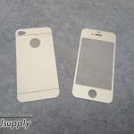 ฟิล์มกระจก iPhone4/4s 2in1 สีเงิน