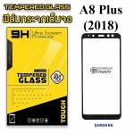 ฟิล์มกระจก Samsung A8 Plus(2018) เต็มจอสีดำ