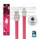สายชาร์จ Full Speed2 (Micro USB) 1เมตร Remax สีชมพู