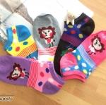 เซตถุงเท้า ลายสิงโต สีผสม ( 5 คู่ )