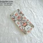 เคส iphone 6 plus TPU79 BackBerg ลายดอกบัว สีส้ม