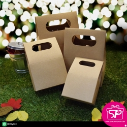 กล่องของขวัญ ทรงหูหิ้ว มี 4 ขนาด (บรรจุแพ็คละ 50 กล่อง)
