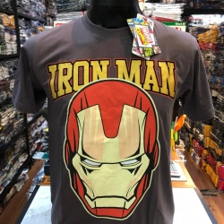 ไอรอนแมน สีเทา (Iron man yellow logo gray1141)