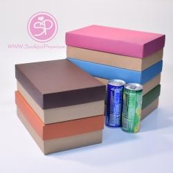 กล่องฝาครอบ ฝาสีต่างๆ ขนาด 16.0 x 25.3 x 8.0 ซม. ไม่มีหน้าต่าง