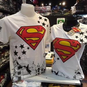 ซุปเปอร์แมน สีขาว (Superman red logo star)