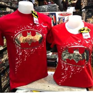 แบทแมน สีแดง (Batman Silver logo Red)