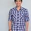 เสื้อเชิ้ตลายสก๊อต ผู้ชาย สีน้ำเงิน thumbnail 1