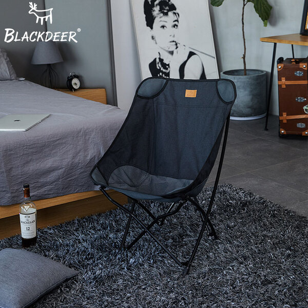รูปภาพสินค้า เก้าอี้พับ Blackdeer Plain Folding Chair #ฺBlack